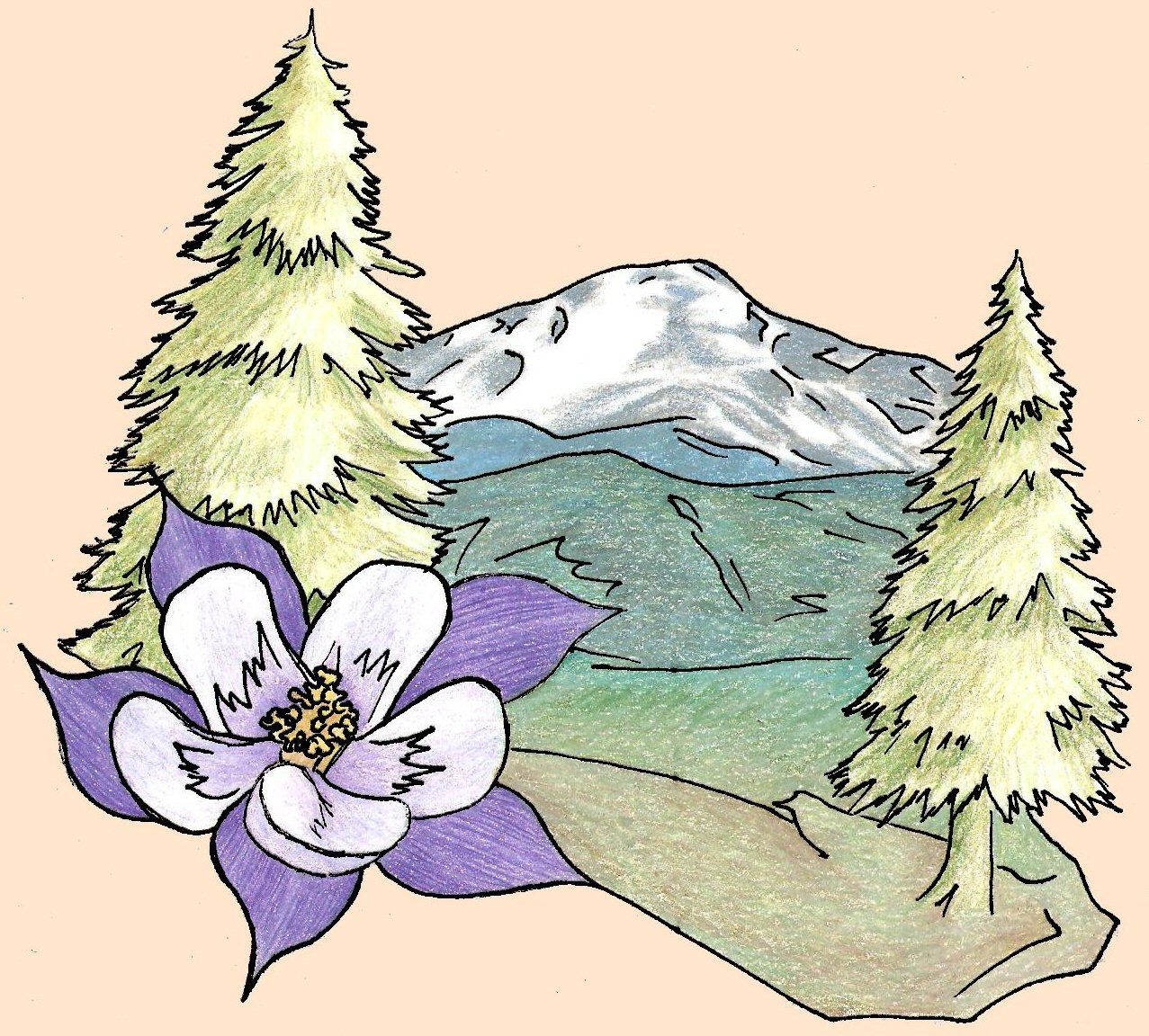 Barb's Colorado-Themed Tattoo Design